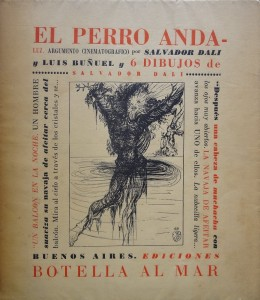 """Lote N. 3115: Guión de la película """"Un perro andaluz"""", redactado por Salvador Dalí y Luis Buñuel. Subasta N.498. Foto: Durán Arte y Subastas."""