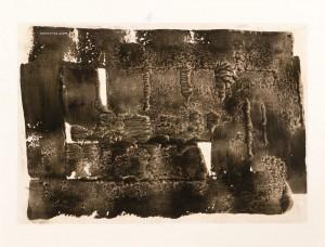 """Lote N. 166: """"Decalcomanía"""", Óscar Domínguez, hacia 1937. Subasta N.498. Foto Durán Arte y Subastas."""
