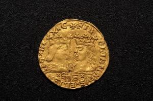 Subasta Julio 2013. Lote nº 410: Ducado de oro de los Reyes Católicos. Foto: Durán Arte y Subastas.