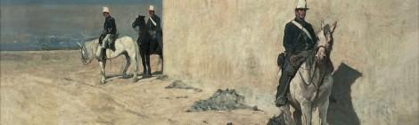 Giovanni Fattori, De guardia (1871). Óleo sobre lienzo. Fondazione Progetto Marzotto, Trissino © Fondazione Progetto Marzotto / Tucano Group