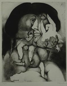 """Charles Baudelaire: """"Las flores del mal"""" traducción de 1976 acompañada por ilustraciones y 10 aguafuertes de Daboval. Foto: Durán Arte y Subastas."""