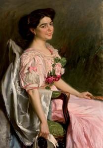 """Fabián de La Rosa, """"Retrato de dama"""". O/L.105 x 75. Foto: Durán Arte y Subastas."""