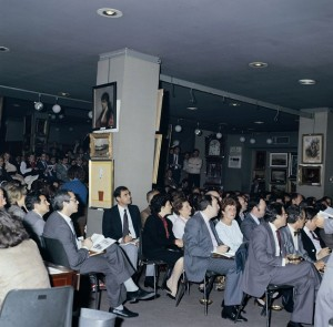 Durán Arte y Subastas. Vista de una subasta de los años setenta. Foto: Durán Arte y Subastas.