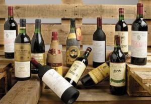 Selección de vinos de las mejores bodegas (Lotes n. 504 a 513). Foto: Durán Arte y Subastas.