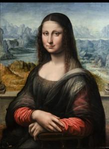 Foto: La Gioconda (copia). Taller de Leonardo da Vinci. H.1503-16. Óleo sobre tabla de nogal. 76,3 x 57cm, 18mm de grosor. Nº Cat. P-504. Cortesía Museo del Prado.