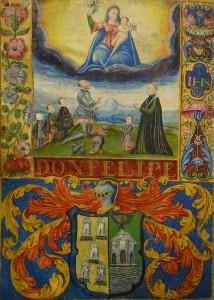 Subasta N.503 – Diciembre 2013. Detalle manuscrito nobiliario español s. XVI (Lote n. 3088). Foto: Durán Arte y Subastas.