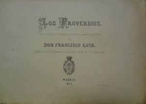 """Subasta N.503 – Diciembre 2013. Detalle """"Proverbios"""" Francisco Goya (Lote n. 3232). Foto: Durán Arte y Subastas."""