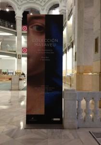 """Entrada de la exposición """"Colección Masaveu"""". CentroCentro, Madrid. 2013. Foto: Durán Arte y Subastas."""