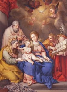 Luis Egidio Meléndez, La Sagrada Familia con San Joaquín y Santa Ana (1768). Propiedad: Colección Masaveu. © De la reproducción: Fundación María Cristina  Masaveu, 2013.