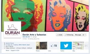 Página Facebook oficial de Durán Arte y Subastas.
