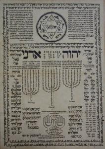 Subasta N.504 – Enero 201. Detalle antiguo documento hebreo, manuscrito. (Lote n. 3165). Foto: Durán Arte y Subastas.