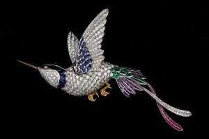 Subasta N.504 – Enero 2014. Broche en forma de colibrí (Lote n. 680). Foto: Durán Arte y Subastas.
