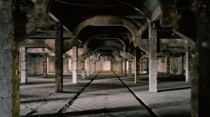 Vista del espacio Abierto x Obras (antigua cámara frigorífica del matadero de Legazpi) en Matadero Madrid.
