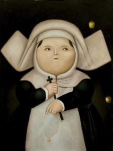 """Subasta 504 - Enero 2014. Fernando Botero, """"Madre superiora"""", 1965, Óleo sobre lienzo, 130 x 99 (Lote 154). Foto Durán Arte y Subastas."""