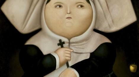 """Fernando Botero, """"Madre superiora"""", 1965, Óleo sobre lienzo, 130 x 99. Lote 154 Subasta 504. Foto Durán Arte y Subastas."""