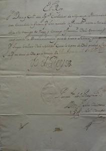 Subasta 505 – Febrero 2014. Lote 3202: Documento manuscrito con Firma Real de Felipe V, fechado Buen Retiro a 5 de Julio de 1703. Foto: Durán Arte y Subastas.