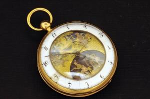Subasta 505 – Febrero 2014. Lote 534: reloj bolsillo de sonería, caja de oro de 18 K. Foto: DuránArte y Subastas.