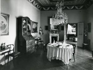 Comedor, Años 80. Fotografía: Oronoz. Cortesía: Museo del Romanticismo, Madrid. 2014.