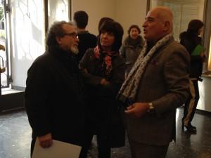 Anibal Jozami recibiendo a los medios de comunicación en el Museo Lázaro Galdiano. Viernes 7 de febrero de 2014. Foto: Durán Arte y Subastas.