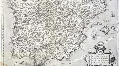 Regni Hispaniae post omnium editiones locupletissima descriptio, 1572. BNE, MR/33-41/210. Cortesía BNE, 2014.