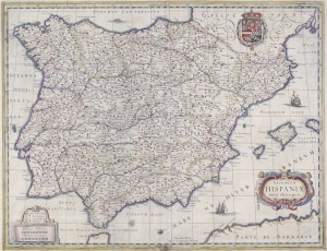 Regnorum Hispaniae nova descriptio, 1631. BNE, MR/33-41/213. Cortesía BNE, 2014.