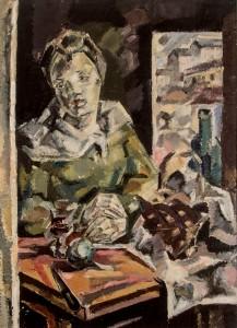 """Subasta 507 – Abril 2014. Lote n. 123: MARIA BLANCHARD, """"Figura en interior"""". Óleo sobre lienzo. Foto: Durán Arte y Subastas."""