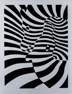 """Subasta 507 – Abril 2014. Lote n. 178: VICTOR VASARELY, """"Cebras"""". Foto: Durán Arte y Subastas."""