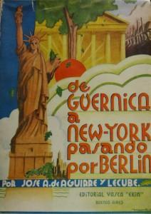 """Subasta 507 – Abril 2014.  Lote n. 3025: IJosé Antonio Aguirre y Lecube, """"De Guernica a New York pasando por Berlín"""". Foto: Durán Arte y Subastas."""