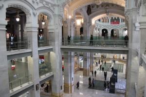 Vista del interior del CENTROCENTRO CIBELES DE CULTURA Y CIUDADANÍA.5CS. Madrid.
