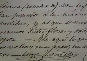 Subasta 508 – Mayo 2014. Lote n. 3017: José Zorrilla,  4 cartas manuscritas entre los años 82 y 85. Foto: Durán Arte y Subastas.