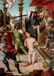 """Subasta 508 – Mayo 2014. Lote n. 93: """"Martirio de San Pelayo"""", MAESTRO DE BECERRIL (PALENCIA, 1520 ). Foto: Durán Arte y Subastas."""
