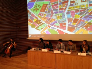 Acto oficial de presentación de Entorno Conde Duque. Foto: Durán Arte y Subastas, 2014.