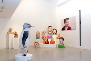 """Vista de la exposición """"Cabezas trocadas"""", individual de Iván Cantos en Twin Gallery. Madrid. Cortesía: Twin Gallery, 2014."""