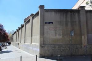 Muros exteriores de Tabacalera. Conjunto de las superficies que se intervendrán artísticamente. 2014.