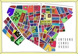 Mapa del Entorno Conde Duque.