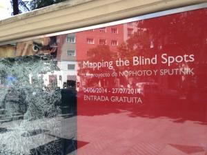 MAPPING THE BLIND SPOTS. Cartel Fundación Lázaro Galdiano. Foto: Durán Arte y Subastas, 2014.