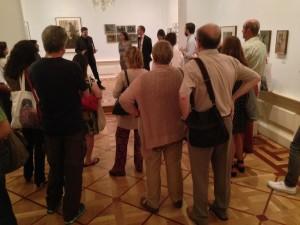 Presentación a la prensa de la exposición Joan Vilatobà. Museo del Romanticismo, Madrid junio de 2014. Foto: Durán Arte y Subastas.