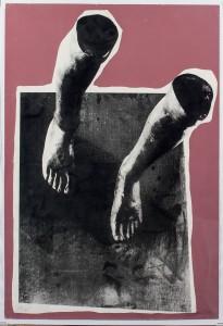 """Subasta 511 – Julio 2014. Lote n. 251: RAFAEL CANOGAR , """"Composición"""" (Litografía, 67 x 45). Foto: Durán Arte y Subastas."""