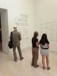 Entrada de la exposición HENRI CARTIER-BRESSON en la FUNDACIÓN MAPFREd e Madrid. Foto Durán Arte y Subastas, Junio 2014.