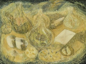 Subasta Septiembre 2014 (n. 512): PANCHO COSSÍO. Bodegón. Óleo sobre lienzo. 45 x 61 cm, salida: Salida 3.000€.