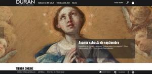 Nueva homepage de Durán Arte y Subastas. www.duran-subastas.com.