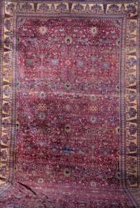 Subasta Septiembre 2014 (n. 512). Lote n. 246: Alfombra iraní Kashan, lana (circa 1950-70). Foto: Durán Arte y Subastas.