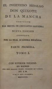 """Subasta 512 – Septiembre 2014. Lote n. 3076: CERVANTES, """"El ingenioso hidalgo Don Quixote"""". Foto: Durán Arte y Subastas."""