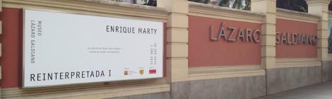 Muros exteriores de la exposición Reinterpretada1. Museo Lázaro Galdiano, Madrid. Foto: Durán Arte y Subastas, 2014.