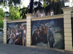 Detalle de los muros exteriores de la exposición Reinterpretada1. Museo Lázaro Galdiano, Madrid. Foto: Durán Arte y Subastas, 2014.