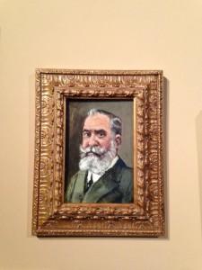 Retrato de José Lázaro Galdiano por Enrique Marty. Exposición Reinterpretada1. Museo Lázaro Galdiano, Madrid. Foto: Durán Arte y Subastas, 2014.