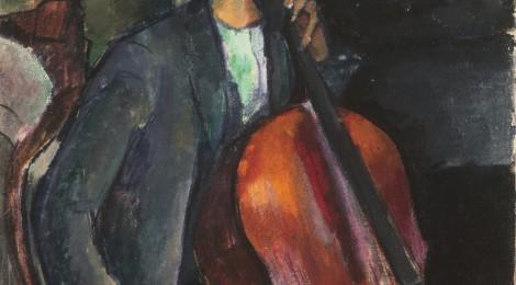 Amedeo Modigliani, El violonchelista. Colección Abelló. Cortesía: CentroCentro Cibeles, 2014.