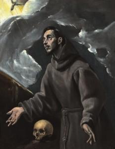El Greco. La estigmatización de san Francisco.
