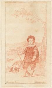 Francisco de Goya, El príncipe Baltasar Carlos, cazador, Museo Nacional del Prado, Dibujos españoles en la Hamburger Kunsthalle, 2014.