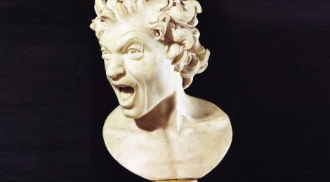 Anima Dannata, 1619. Gian Lorenzo Bernini. Mármol blanco, 41,5 x 29 x 24 cm. Roma, Embajada de España ante la Santa Sede. Fotografía: Carolina Marconi.